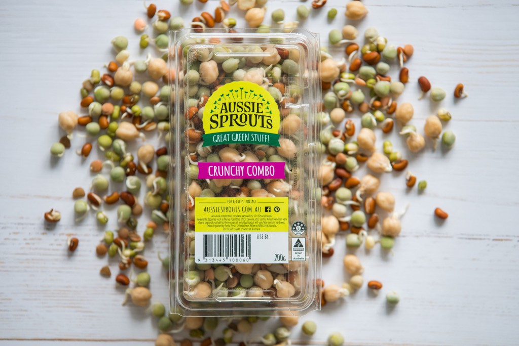 combo, bean mix, sprouts